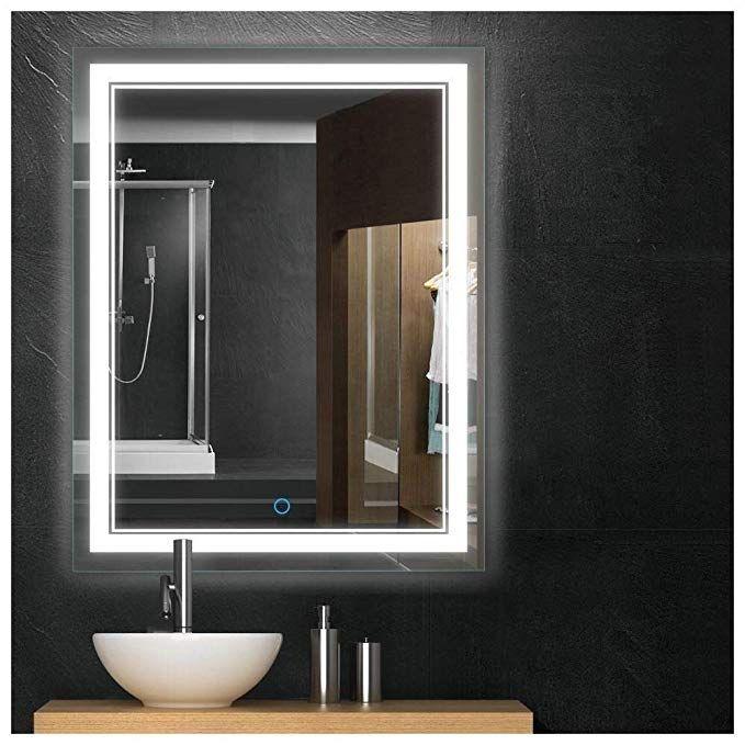 Amazon Com Keonjinn 36x28 Bathroom Mirror Anti Fog Wall Mounted Makeup Mirror With Led Light Bathroom Mirror Wall Mounted Makeup Mirror Mirror With Led Lights