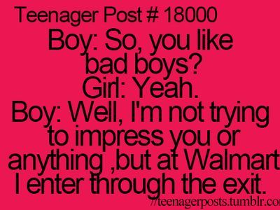 He feels like a bad boy going through Walmart exit