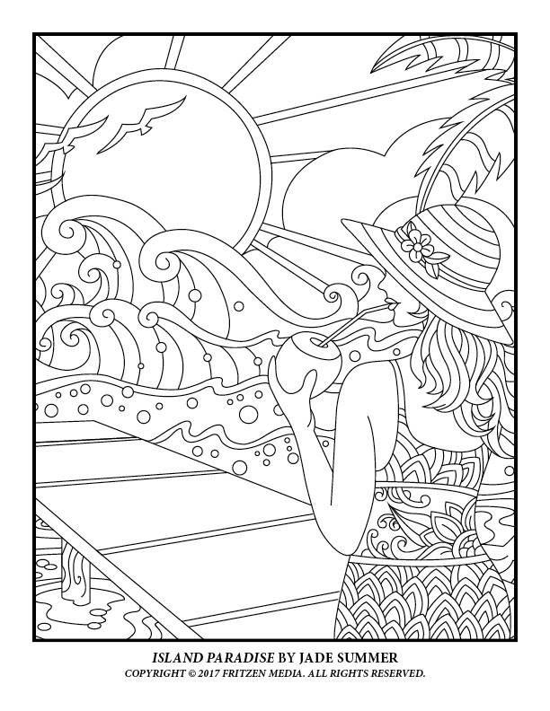 Island Paradise By Jade Summer Print Version Https Www Amazon Com Jade Summe Summer Coloring Pages Cute Coloring Pages Coloring Pages