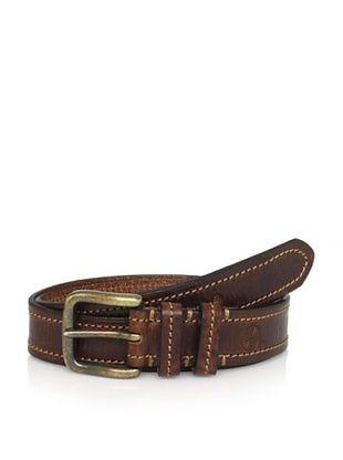 58% OFF Maker & Company Men's Contrast Stitched Belt (Brown)