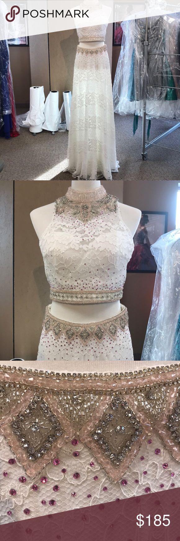 Vienna Prom Size 8 Two Piece Piece Prom Dress Prom Prom Dresses [ 1740 x 580 Pixel ]