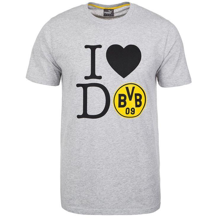 """Borussia Dortmund I LOVE DO Fan T-Shirt Herren Das Fan Tee des BVB ist eine Liebeserklärung an die Stadt und den Verein. Wenn es um Borussia Dortmund geht, kann man sein Herz auch mal zeigen. Das offizielle Puma Fan T-Shirt wurde mit dem Schriftzug """"I LOVE DO"""" auf der Vorderseite veredelt. Die hochwertige Baumwolle und das weiche Nackenband sorgen für einen tollen Tragekomfort und bezeuge..."""