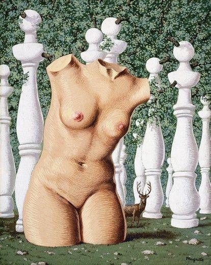 El bosque alegre- Rene Magritte - Gouache sobre papel. 1948.