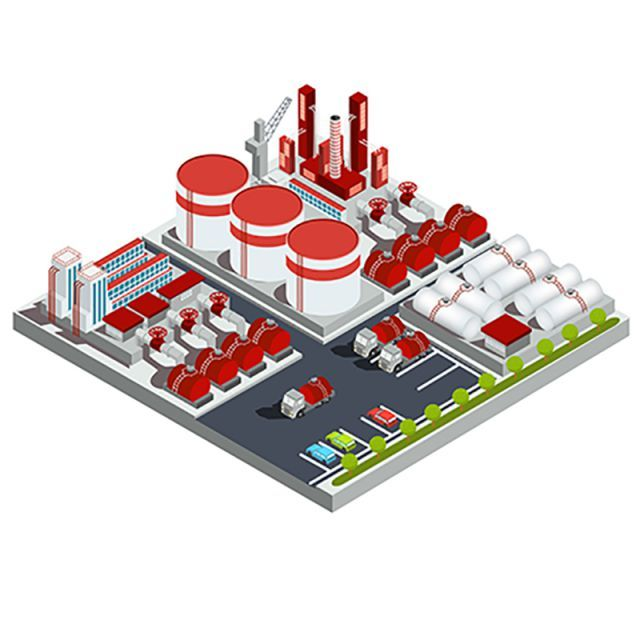 Vector Isometric Illustrations Oil Refinery Refinery Plant Icon Png And Vector With Transparent Background For Free Download Isometric Illustration Isometric Oil Refinery