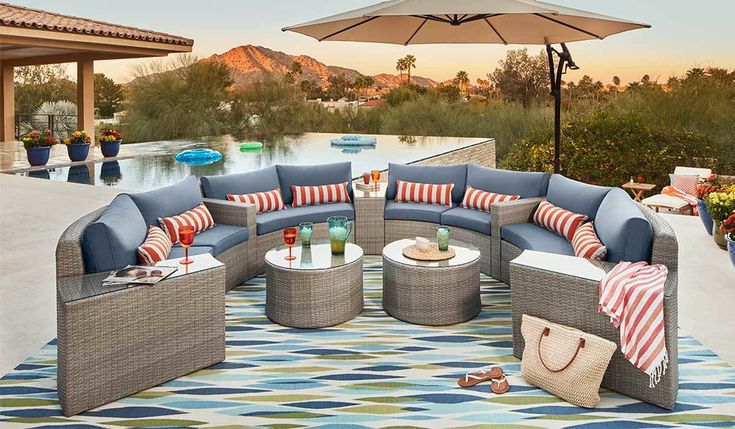 If you're a fan of hosting large parties for your family and friends outdoors, then these patio essentials are just what you need! Create a party-worthy space with these amazing finds! #patiofurniture #entertaining #outdoorfurniture