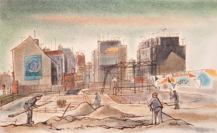 Václav Křížek - Brigádní úprava Karlova náměstí (1960)