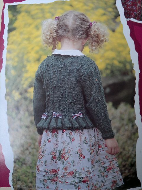 Textured Peplum Sweater by Patons - Patons #337, Adventure Knits