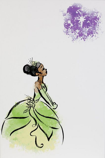Princess & the Frog.                                          Este era el dibujo que estaba haciendo en clases