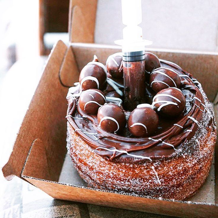 Maltese cronut with nutella stinger. No copyright infringement intended. Image belongs to their respected owners. #nutella #cronut #maltese #chocolate #icing #dessert #food #foodaddict #instafood #foodstagram #eat #nomnom by thechewchamp