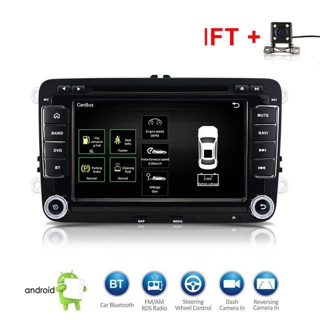 2 Din Car Dvd Player 8 Hd For Vw Polo Gti Golf 5 6 Mk5 Mk6 Jetta
