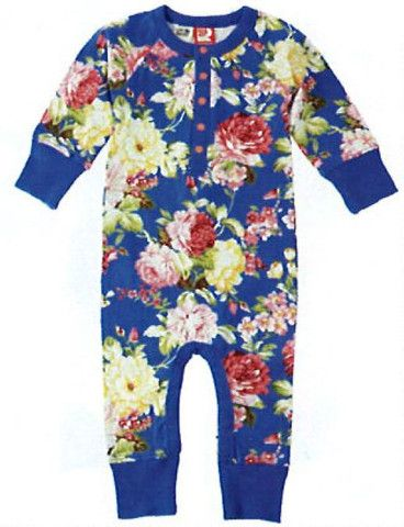 Rock Your Baby Blue Floral L/S Playsuit – Sweet Thing Baby & Childrens Wear #Winter #Cloth #Girl sweetthing.com.au
