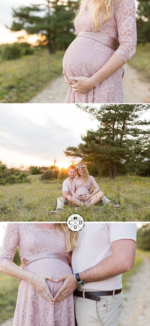 Fantastic babybauchshooting in the evening sun   – Color-Base Fotografie – Babyb…