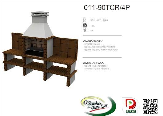 Churrasqueira Modelo  011-90TCR/4P