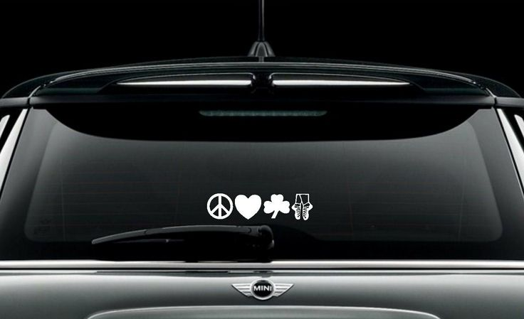 Irish+Dance+Decal+Peace+Love+Irish+Dance+Decal+/+by+GoodMommyLtd,+$7.99