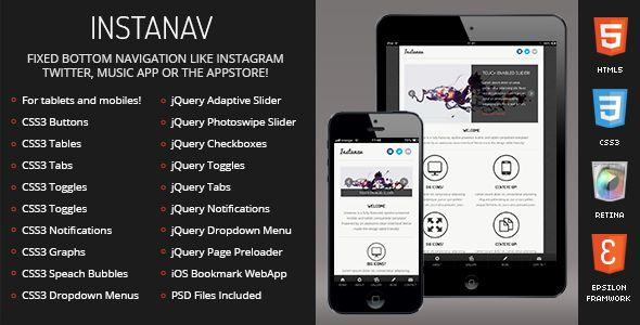 Instanav | Mobile & Tablet Responsive Template