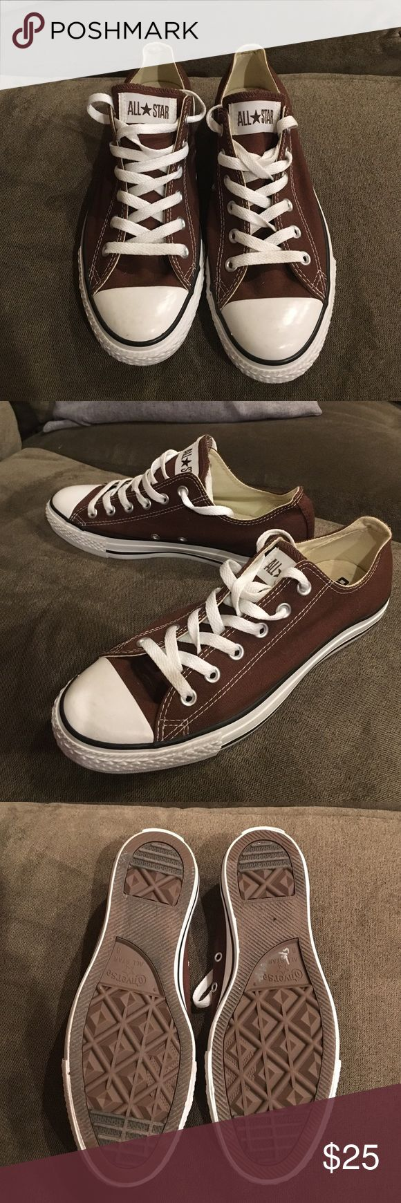 Like-New Condition Brown Converse Women's size 10 Women's size 10. Men's size 8. Like new condition. Worn once. Converse Shoes Sneakers