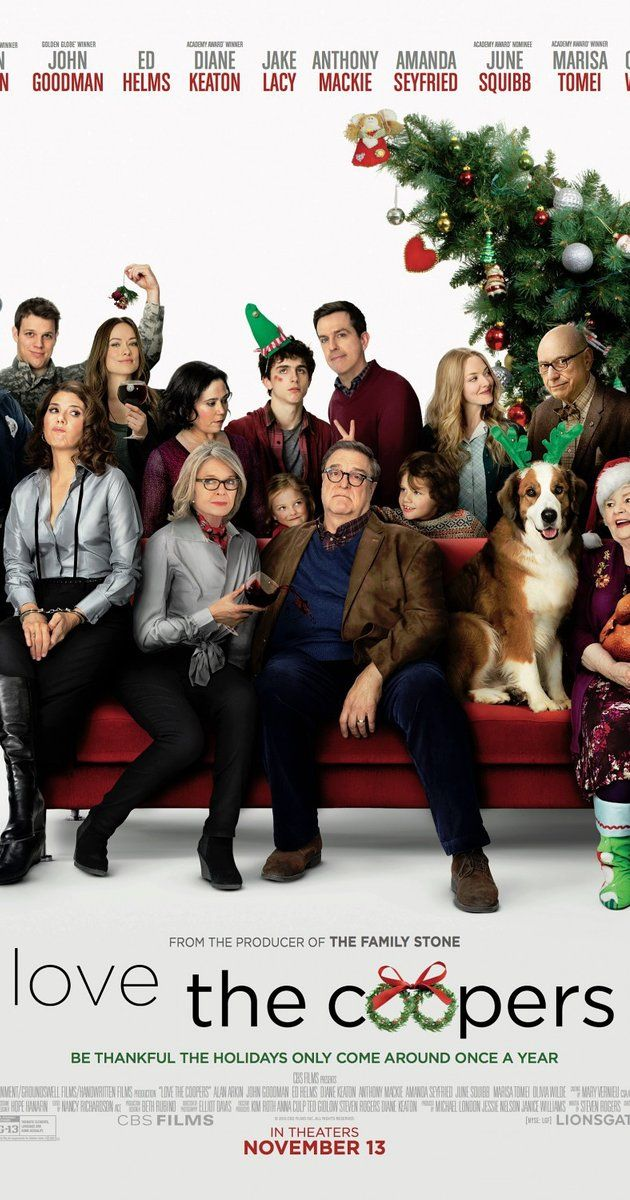 Directed by Jessie Nelson.  With Olivia Wilde, Amanda Seyfried, Marisa Tomei, Anthony Mackie. When four generations of the Cooper clan come together for their annual Christmas Eve celebration, a series of unexpected visitors and unlikely events turn the night upside down, leading them all toward a surprising rediscovery of family bonds and the spirit of the holiday.
