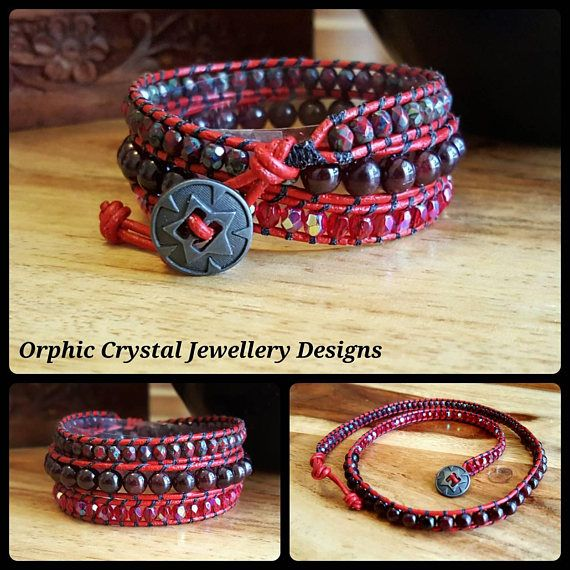 Check out this item in my Etsy shop https://www.etsy.com/uk/listing/474317088/garnet-wrap-bracelet-balancing-jewellery