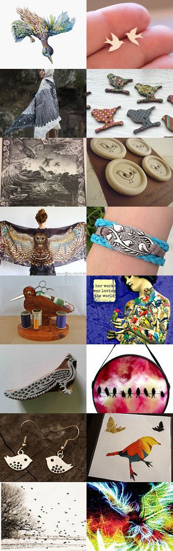 Of a Feather by Melody on Etsy--Pinned+with+TreasuryPin.com