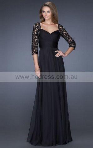 Chiffon Sweetheart Natural A-line Floor-length Evening Dresses abaa1009--Hodress