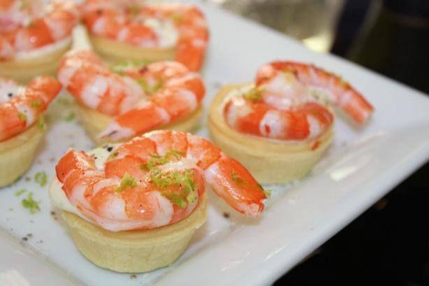 Prawns with Lime Caviar.