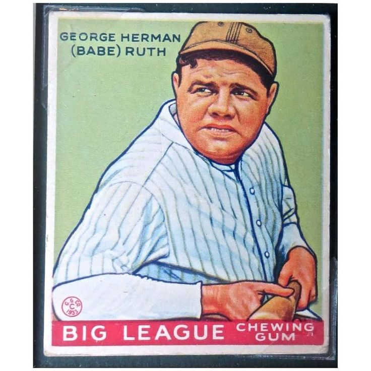 Babe ruth goudey 181 baseball card circa 1933