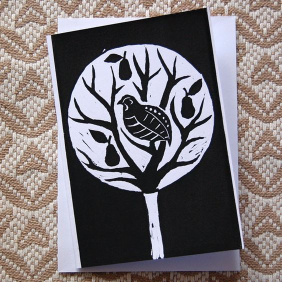 14 Best Christmas Linocut Images On Pinterest Bicycling