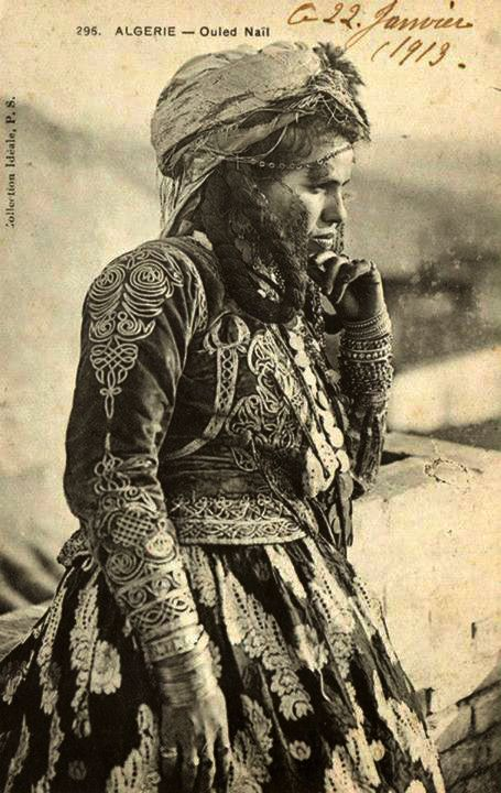 Africa   Ouled Nail woman. Algeria   ca. 1919   Scanned postcard image