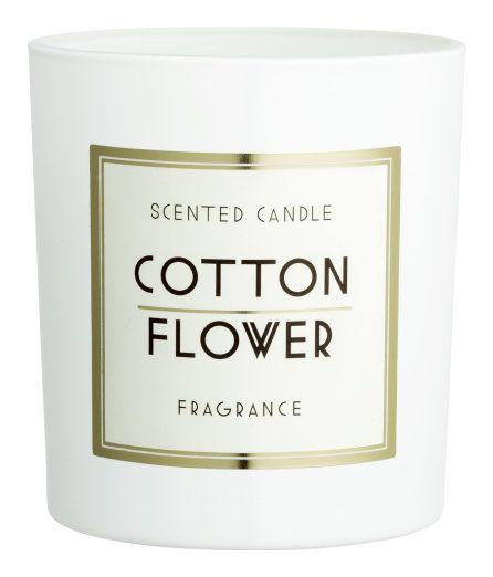Doftljus i glasbehållare | Vit/Cotton | Home | H&M SE