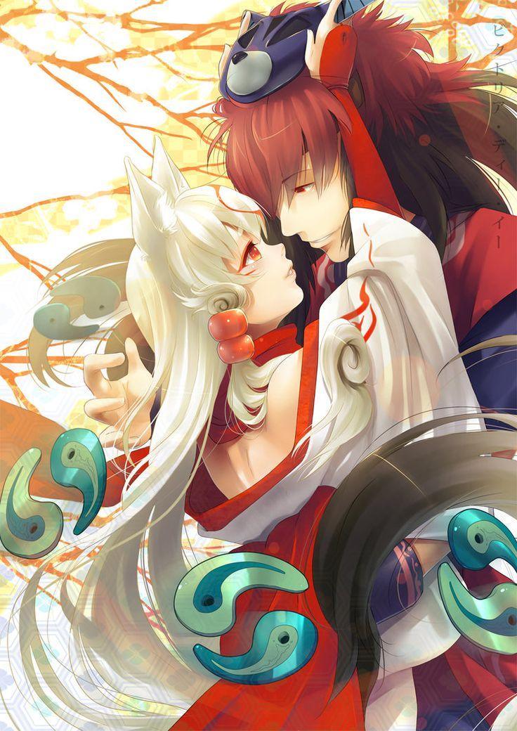 Amaterasu and Oki by *kotorikurama on deviantART