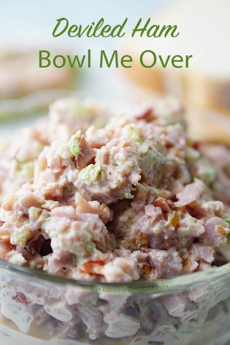What to do with leftover ham? Use it to make Deviled Ham - salty and sweet, creamy and crunchy. Delicious on bread or crackers.