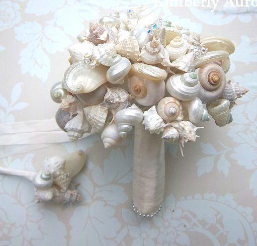 79 best seashell wedding bouquet images on bridal