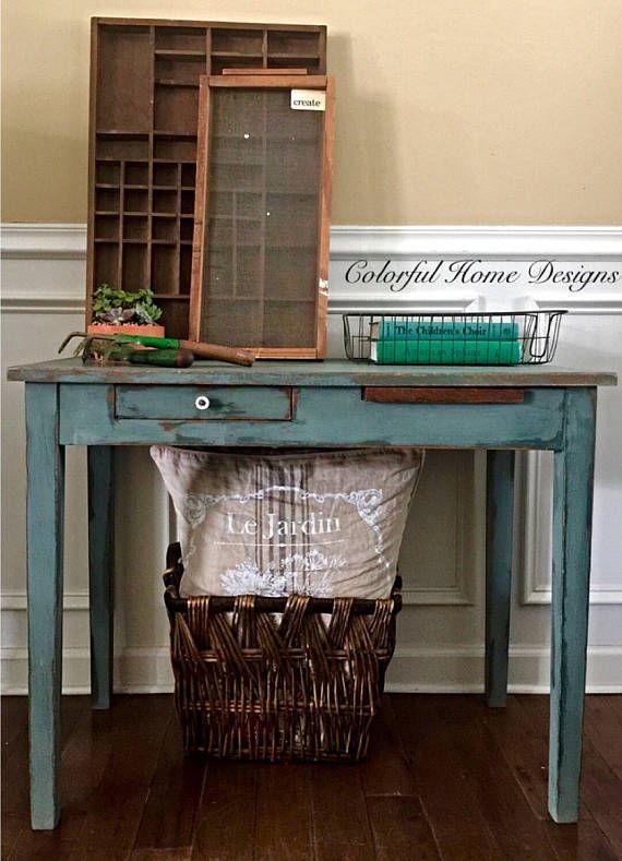 vintage childs table childs desk farmhouse desk farmhouse table rustic desk - Childs Desk