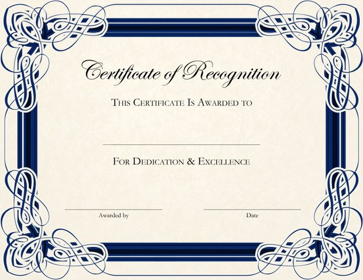 14 best certificates images on pinterest award certificates certificate of recognition templates english genie yelopaper Image collections