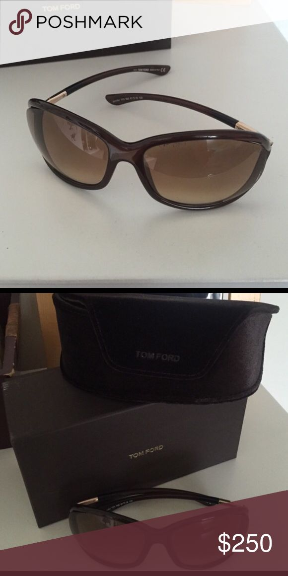 Tom Ford Jennifer Sunglasses Tom Fords Jennifer Style. In great condition. It just has a very faint scratch on one of the lenses. Not noticeable. It comes with everything in the the pictures. I'm not sure of its authenticity though. I got them from poshmark & was told they were authentic but I don't know. Tom Ford Accessories Sunglasses