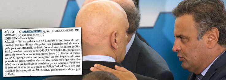 Conflito de interesses no STF; áudio que incrimina Aécio Neves por lavagem de dinheiro cita o ministro do STF Alexandre de Moraes, um dos membros da Primeira Turma da Suprema Corte, que vai analisar o caso; num país republicano, o ministro deveria se declarar impedido de julgar a questão
