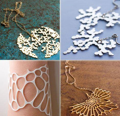 Jewlery inspired by microanatomy. Lovely Science