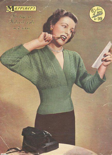 Marriner 99 - vintage ladies jumper - vintage knitting pattern
