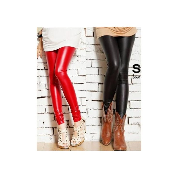 Latex Legging Leather Looks JP079-Red Model  048765 Condition  New  COLOR : red leather looks polyester Waist60-80 Length92 Retail IDR110,000	Reseller IDR82,500	Whol