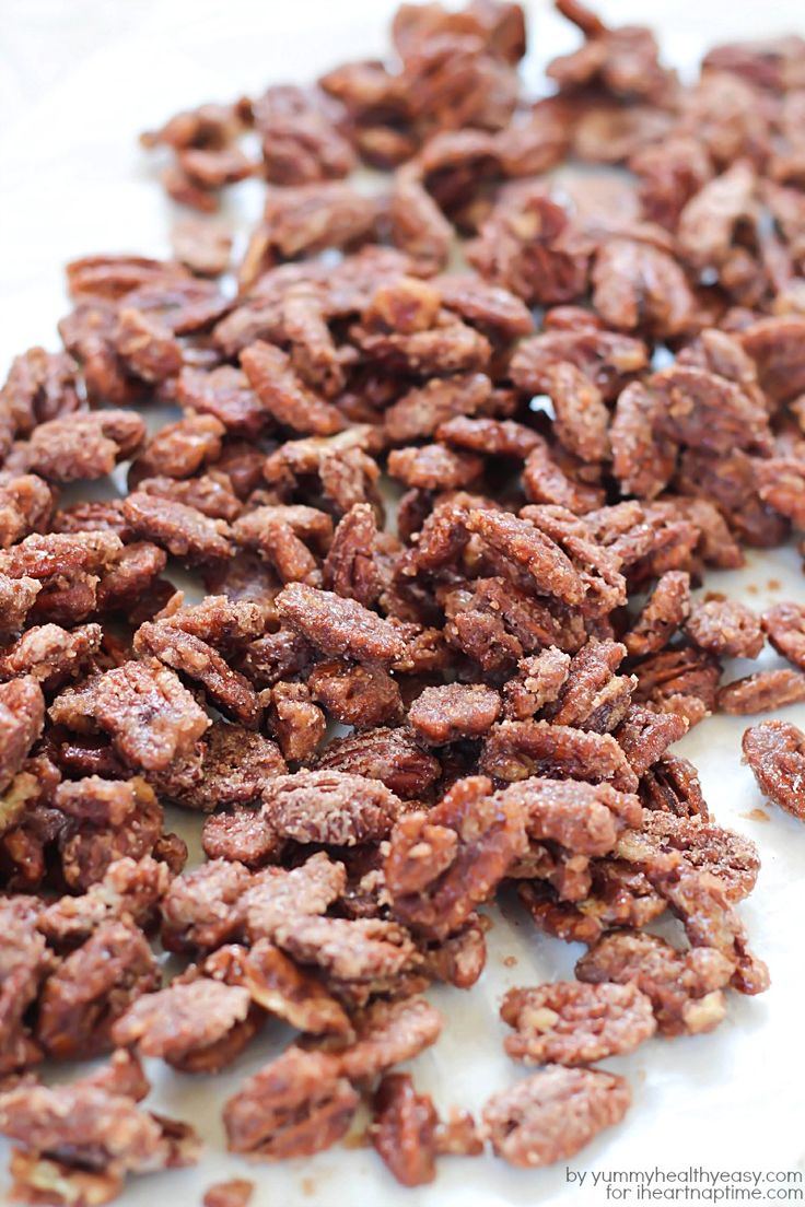 Candied Pecans from Yummy Healthy Easy on iheartnaptime.com