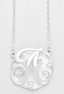 34 best monogram necklaces images on pinterest initial necklaces monogram initial necklace 15 letter a pendant silver chain aloadofball Gallery
