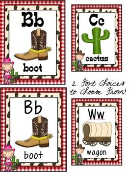 WESTERN THEME CLASSROOM DECOR PART 1 - TeachersPayTeachers.com