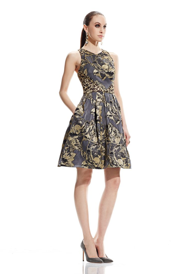 Lo lo lord and taylor party dresses - Metallic Lace Burnout Party Dress
