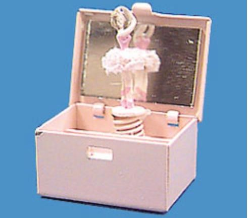 Dollhouse Miniature Pink Ballerina Jewelry Box by MiniFunTimes on Etsy