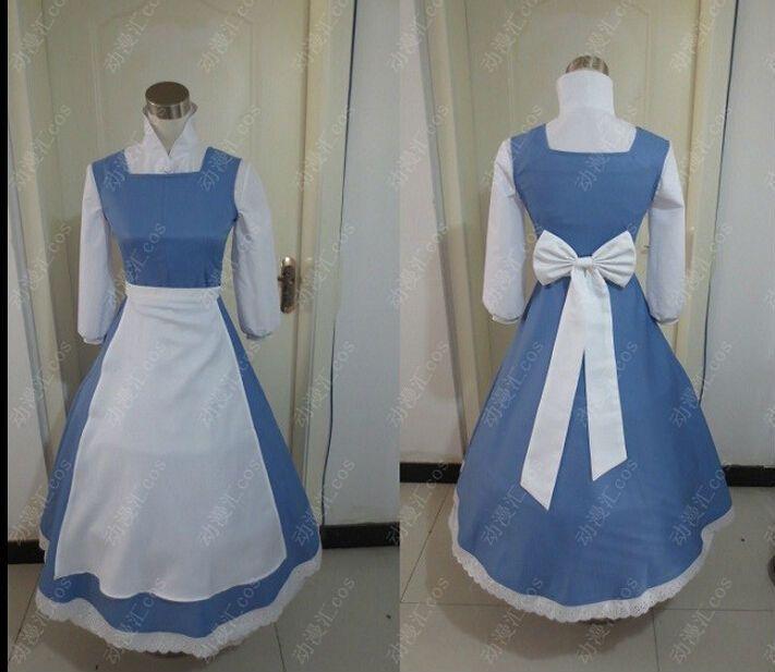 Princesa Nueva Adulto Belle Belleza de vestuario y la criada del vestido de lujo Bestia Azul(China (Mainland))