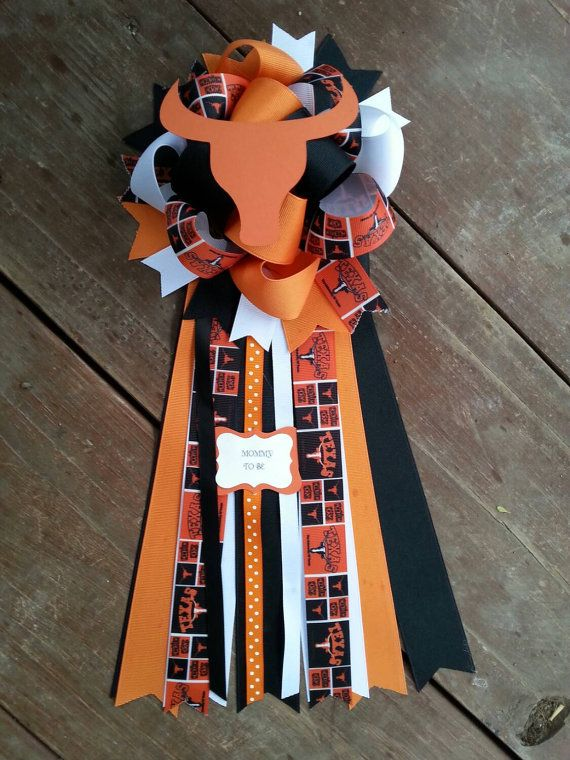 Check out this item in my Etsy shop https://www.etsy.com/listing/229755474/texas-longhorns-baby-shower-mum