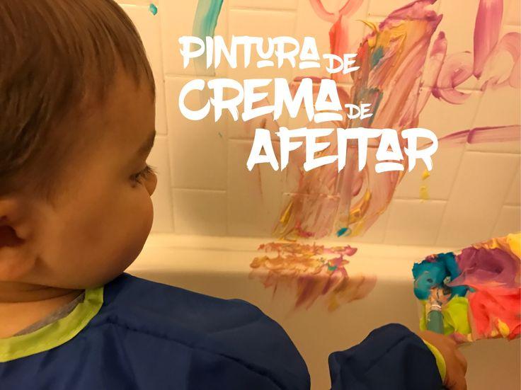 Pintura de Crema de Afeitar: Un pre-baño lleno de color