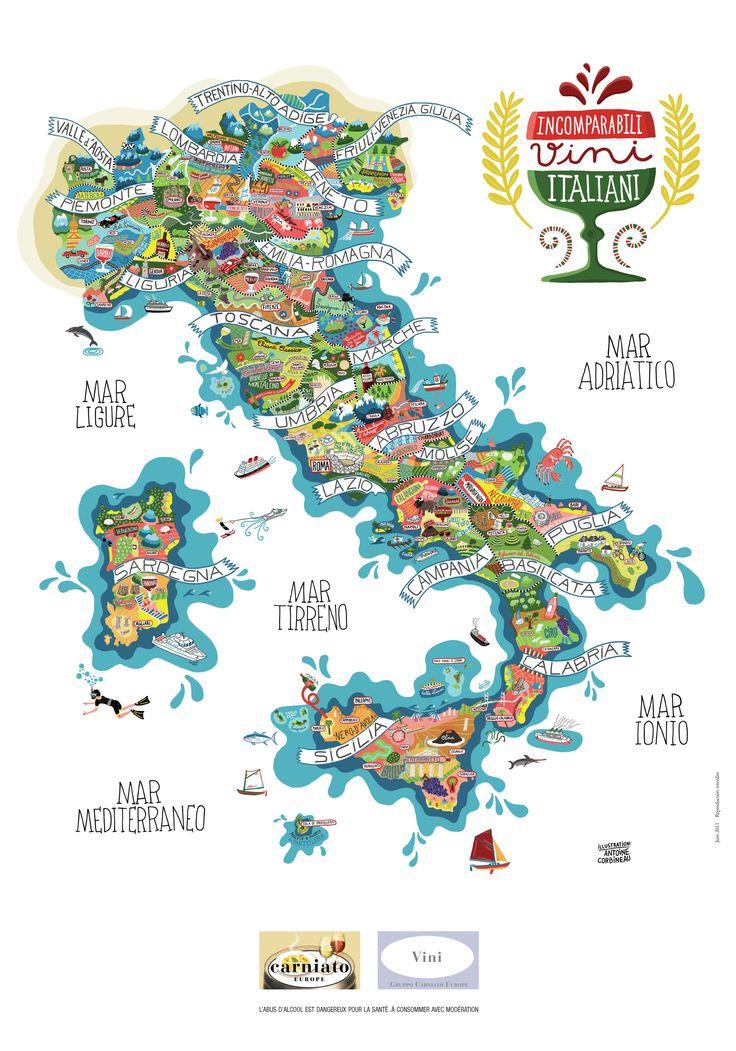 Incomparabili Vini Italiani - Antoine Corbineau • Illustration & Design