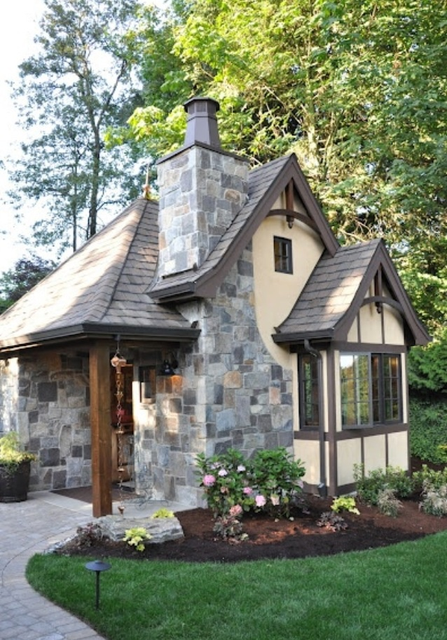 Tiny Home Designs: Cute Tudor Style Cottage