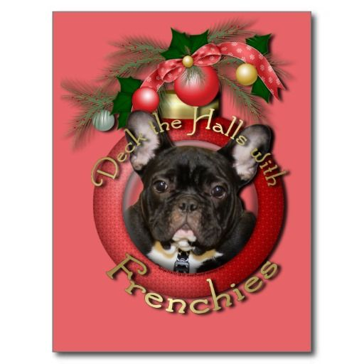 Kerstmis - Dek de Zalen - Frenchies - Wintertaling Briefkaart
